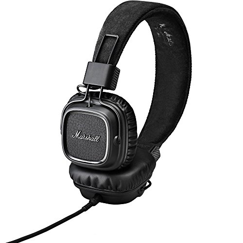 Marshall Major Headphones (Marshall Major On-Ear Headphones, Pitch Black (4091114))