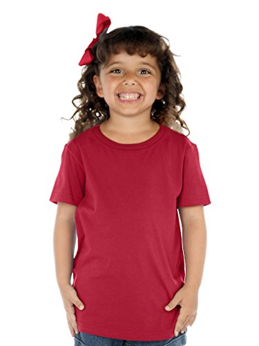 Neck Short Sleeve Tee (Same TJP0494) Cardinal 3T ()