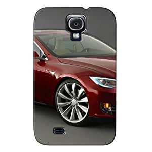 Tesla Model S Signature, Front View TPU Gray Other Cars For Sumsang Galaxy S4 Cover Case