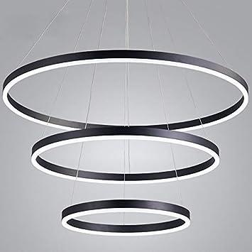 SINBROL Pendellampe Pendelleuchte Hängelampe Hängeleuchte LED Runde Ring |  Justierbares Form | Höhenverstellbare Für Esstisch Wohnzimmer