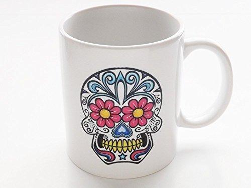 Day of the Dead 11 oz. Coffee Mug Sugar Skull Dia de los Muertos Halloween holiday kitchen (Halloween Beverages Ideas)