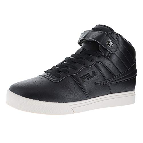 Fila Vulc 13 Distress Black/Black/Silver Birch Mens Ankle Hook and Loop Strap Size 9M