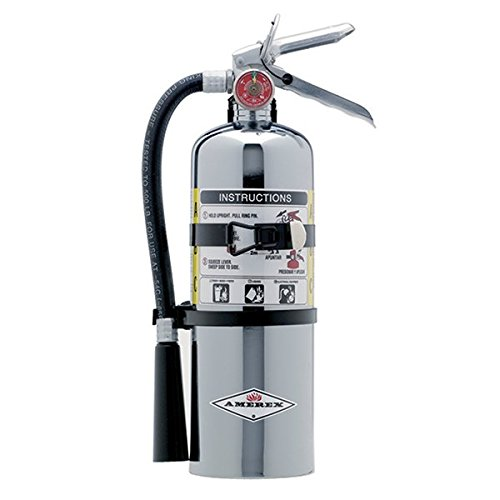 Amerex 500TC, 5lb ABC Dry Chemical Class A B C Chrome Fire Extinguisher