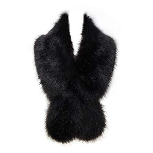 Faux Fur Collar Scarf Shrug for Winter Coat Flapper Fur Feather Boa Gatsby Wrap 1920s Shawl Accessories