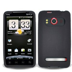 htc-evo-4g-skin-case-black-01-gel-silicone-jelly-soft-cover