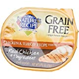 Nature's Recipe Grain Free Chicken & Turkey Adult Cat Food Trays, Case of 24