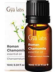 Gya Labs Roman Chamomile Essential Oil for Stress Relief, Sleep, Skin Care - Topical For Sensitive Skin - Diffuse to Relax Mind -100 Pure Therapeutic Grade Roman Chamomile Oil For Aromatherapy - 10ml