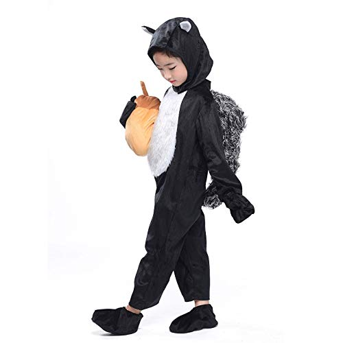 (Kids Squirrel Costume Animals Party Childen Halloween Cosplay Fancy Dress)