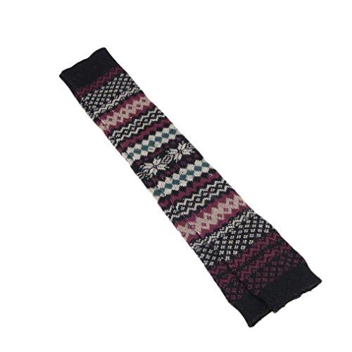 Calientapiernas De Pierna Alta Para Mujer Hp95 (tm), Calcetines De Punto De Ganchillo Calcetines Toppers Puños Negros