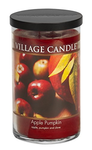 Village Candle Apple Pumpkin 24 oz Glass Tumbler Scented Candle, Large