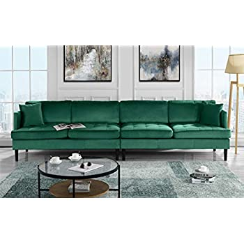 Prime Mid Century Modern Extra Large Velvet Sofa Living Room Couch Green Alphanode Cool Chair Designs And Ideas Alphanodeonline