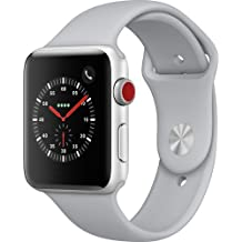 Apple watch series 3 Aluminum case Sport 42mm GPS + Cellular GSM unlocked (Silver Aluminum case with Fog sport Band)