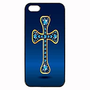 Art Design Diamond Cross Unique Printed Plastic Rubber Sillicone Customized iPhone 4 Case, iPhone 4S Case Cover, Protection Quique Cover, Perfect fit, Show your own personalized phone Case for iphone 4 & iphone 4S