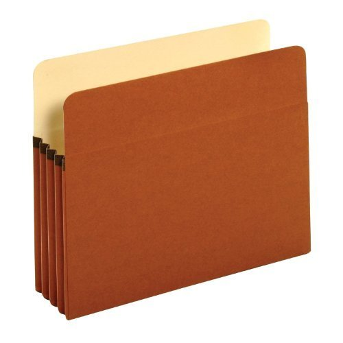 Globe-Weis Standard File Pockets 3.5-Inch Expansion Tyvek Gussets Letter Size 25-Count, Brown (63224) by Globe Weis