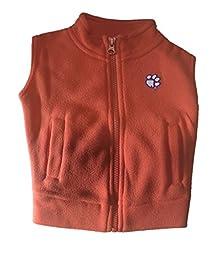 Clemson Tigers NCAA Infant Toddler Fleece Zippered Vest (2 Toddler)