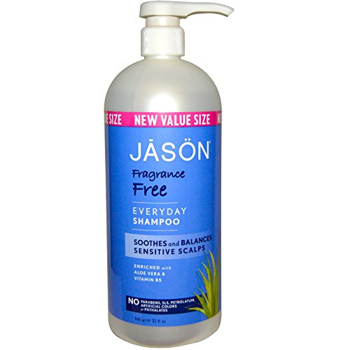Jason Natural, Everyday Shampoo, Fragrance Free, 32 fl oz (946 ml) - 2pc