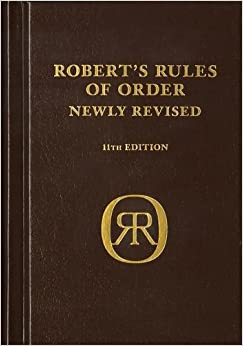 Robert's Rules Of Order Newly Revised, Deluxe 11th Edition (Robert's Rules Of Order (Hardcover)) Henry M. III Robert