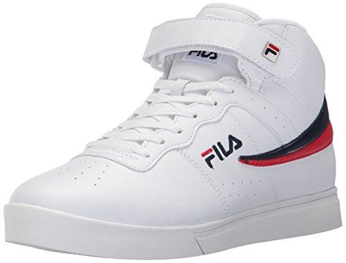Fila Mens Vulc 13 Mid Plus 2 Wandelschoen Wit / Fila Navy / Fila Rood-150