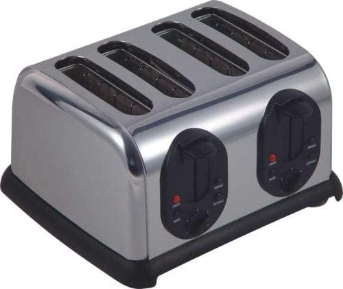 Toaster 4 Slice Stainless Steel for Kitchen Cooker A12