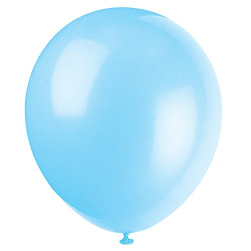 5 Latex Baby Blue Balloons, 72ct