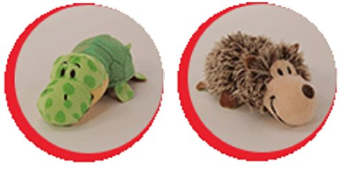 "FlipaZoo's Little FlipZee 5"" Pocket Size Plush Figure - Hedgehog Transforming To Turtle (the Toy That Flips For You)"