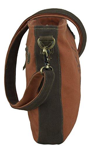 Sunsa Damen kleine Umhängetasche Schultertasche Crossbody Tasche Canvastasche in retro Style Vintagetasche 1vSVBRJHW