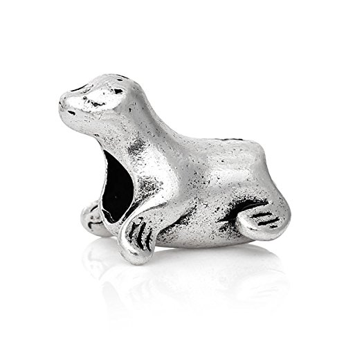 Pendant Jewelry Making Seal Sea Lion Beach Animal Sea Life Bead for Silver European Charm ()