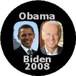 OBAMA BIDEN 2008 Political Pinback Button 1.25