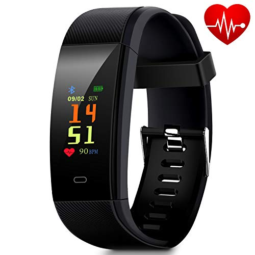 Waterproof Fitness Tracker, Smart Watch with Pedometer for Walking, Heart Rate Monitor, Blood Pressure Monitor, GPS Tracker, Calories Counter, Sleep Monitor, Call/SMS Alert for Women Kids and Men