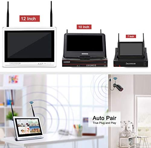 [All-in-One] 1080P Home Security Camera System Wireless with 12 Inch Monitor WiFi Surveillance NVR Kits,8 Channel WiFi Video Security System with 1TB HDD with 4Pcs 2.0MP IP Cameras,Free APP by ANRAN 419ttgrqrZL