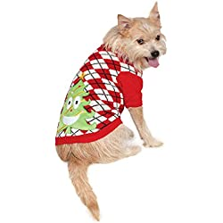 Rubie's Costume 580565-XXL Co Ugly Sweater With Christmas Tree Pet Costume, XX-Large
