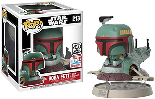 Funko - Figurine Star Wars - Boba Fett & Slave One Exclu Pop Rides 18cm - 0889698147248