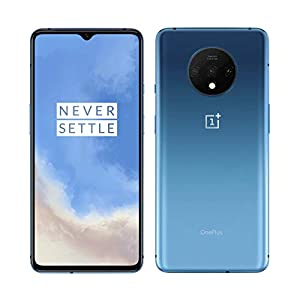 OnePlus 7T 8GB RAM 128GB ROM US Model HD1905 Factory Unlocked 6.55 inch AMOLED 90Hz Display Dual SIM Glacier Blue US Warranty