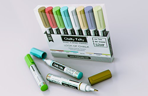 Look of Chalk Pens in 8 Colors - Terra Cotta Earth Tone Wet Wipe Markers from Chalky ()
