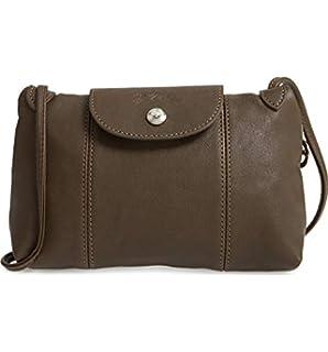 3ce8bfcc1939 Longchamp Women's Leather Le Pliage Cuir Crossbody Bag Navy Blue ...