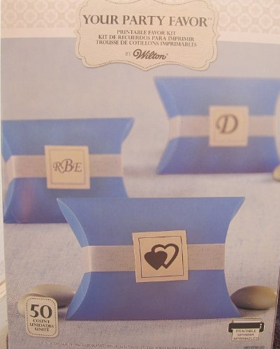 Blue Pillowbox Favor Kit, Set of 50