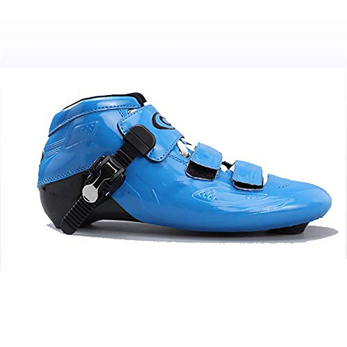 Blue Carbon Skating Fiber Wheel Straight Roller Skates Single Men Cake Adult Speed Shoes and Speed Women Children Row Professional Row Skating rwRrqIAv