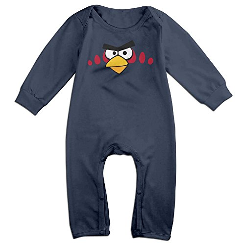 HOHOE Babys Cartoon Red Birds Big Eyes Long Sleeve Jumpsuit Outfits 12 Months