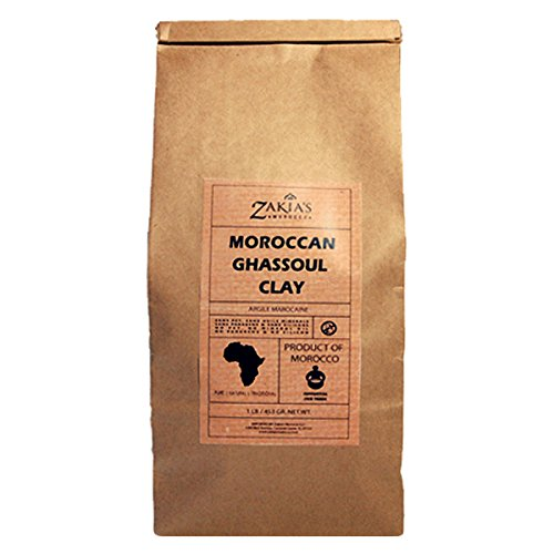 Ghassoul Lava Clay Mask - Organic Natural Facial Mask and Skin Care Treatment- 1 Lb