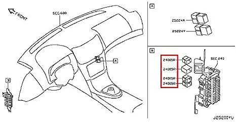 amazon com infiniti genuine blower motor relay relay 25230 79942 rh amazon com 2008 Infiniti G35 Engine Schematic Infiniti G35 Speaker Wiring Diagram