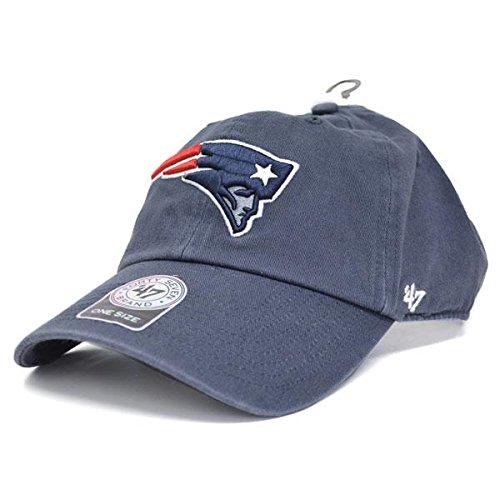 夢中こんにちは日光47 Brand(47ブランド) NFL ペイトリオッツ キャップ/帽子 ネイビー 47ブランド Cleanup Adjustable キャップ