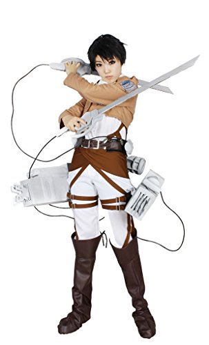 MILICA BOOKS Attack on Titan Survey Corps Captain Levi Cosplay Costume-Size L (Attack On Titan Cosplay Eren)
