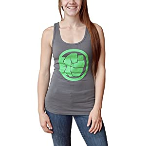 Marvel Hulk Logo Juniors Tank Top Tee (X-Large)