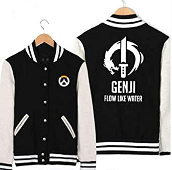 OVERWATCH game pattern fashion full sleeves baseball jacket single breasted casual coat