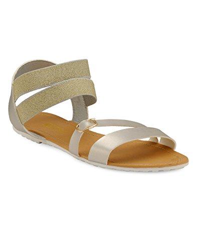 Yepme - Sandalias de vestir de Material Sintético para mujer plateado plata