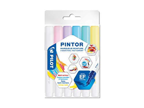 (Pilot Pintor - Pack of 6 - Pastel - Extra Fine Point)