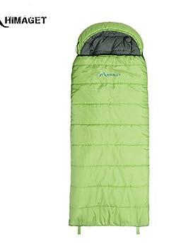 Envío gratuito himaget marca sobre con saco de dormir estilo con capucha para acampar al aire libre bolsa de dormir adultos cálido, azul claro: Amazon.es: ...