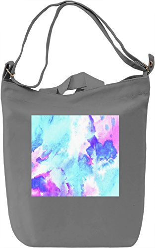 Colorful Watercolor Print Borsa Giornaliera Canvas Canvas Day Bag| 100% Premium Cotton Canvas| DTG Printing|