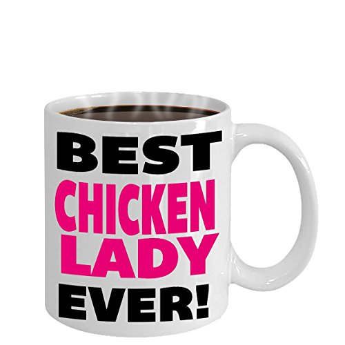 BEST FUNNY GIFTS for crazy chicken lady, Coffee mugs for women/Grandma,...