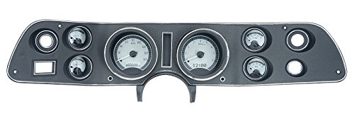Dakota Digitl 70 - 81 Chevy Camaro VHX System Analog Dash Gauges Silver Alloy White VHX-70C-CAM-S-W